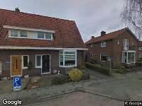 Gemeente Zwartewaterland - Gehandicaptenparkeerplaats op kenteken nabij de woning Berkenlaan 41 te Zwartsluis - in een haaks pakeervak tegenover de woning