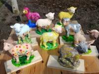 voorjaars workshop schaapje schilderen