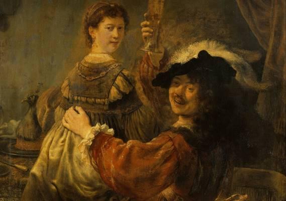 Rembrandt en Saskia: liefde in de gouden eeuw