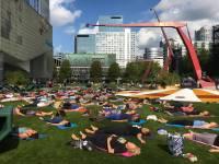 Evenement Yoga op het Schouwburgplein
