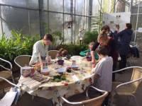 Kinderworkshop schilderen met planten