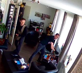 Brutale inbrekers in Kralingen gefilmd