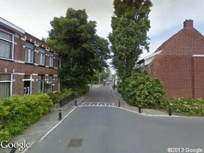 Brandweer naar Prinsentuin in Leeuwarden