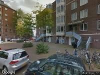 Traumahelikopter naar Barentszplein in Amsterdam