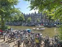 Ambulance naar Herengracht in Amsterdam