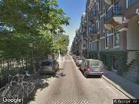 Ambulance naar Vossiusstraat in Amsterdam
