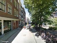 Ambulance naar Nieuwegrachtje in Amsterdam