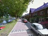 Brandweer naar Burgvlietkade in Gouda vanwege waarnemen gaslucht