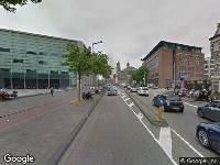 Politie naar Valkenburgerstraat in Amsterdam