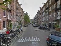 Traumahelikopter naar Sluisstraat in Amsterdam