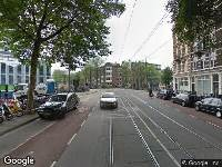 112 melding Brandweer naar Roetersstraat in Amsterdam