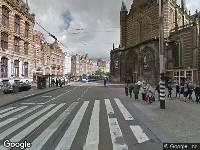 112 melding Besteld ambulance vervoer naar Nieuwezijds Voorburgwal in Amsterdam