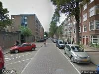 Brandweer naar Nieuwe Uilenburgerstraat in Amsterdam