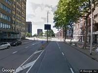 112 melding Ambulance naar Rochussenstraat in Rotterdam