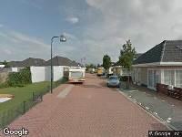 112 melding Brandweer naar Tiberiusstraat in Leiden