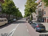 Politie naar Marathonweg in Amsterdam