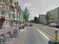 112 melding Besteld ambulance vervoer naar Overtoom in Amsterdam