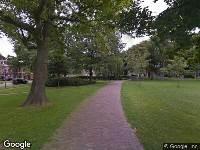 112 melding Brandweer naar Frederikspark in Haarlem