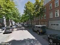 112 melding Ambulance naar Gerrit van de Lindestraat in Rotterdam