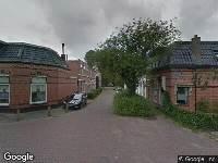 112 melding Brandweer naar Groningerstraat in Leeuwarden