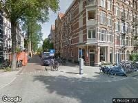 112 melding Brandweer naar Derde Helmersstraat in Amsterdam