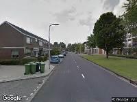 112 melding Brandweer naar Merelstraat in Zwijndrecht vanwege een buitenbrand