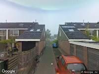 112 melding Brandweer naar Roosje Vosstraat in Alphen aan den Rijn