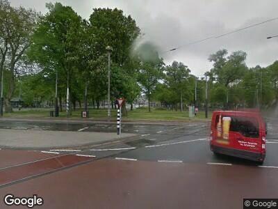 Brandweer met grote spoed naar Weteringschans in Amsterdam vanwege brand