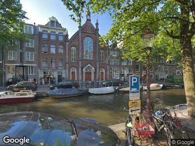 Ambulance naar Bloemgracht in Amsterdam