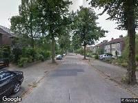 Brandweer naar Van Peltlaan in Nijmegen vanwege verkeersongeval