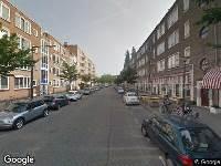 112 melding Besteld ambulance vervoer naar Frits Ruysstraat in Rotterdam