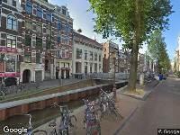 Traumahelikopter naar Oudezijds Achterburgwal in Amsterdam