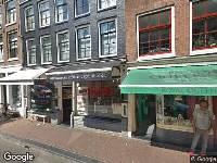 Brandweer naar Haarlemmerstraat in Amsterdam
