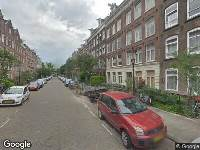Brandweer naar Burmanstraat in Amsterdam vanwege verkeersongeval