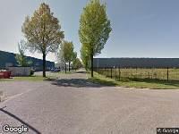 112 melding Brandweer naar De Kroonstraat in Tilburg