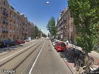 Ambulance naar Admiraal De Ruijterweg in Amsterdam