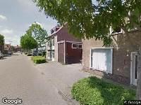 112 melding Brandweer naar Petrus Loosjesstraat in Tilburg