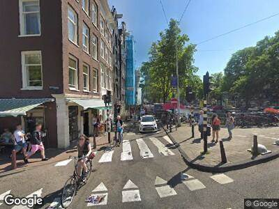 Ambulance naar Prinsengracht in Amsterdam
