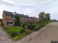 112 melding Brandweer naar Meester de Vriesstraat in Witmarsum