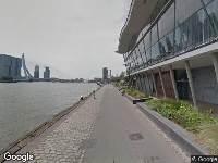 Ambulance naar Boompjeskade in Rotterdam