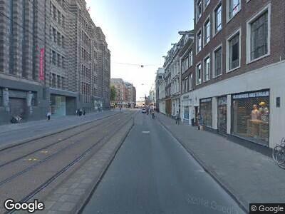 Traumahelikopter naar Vijzelstraat in Amsterdam