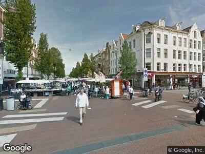 Brandweer naar Eerste Van Swindenstraat in Amsterdam