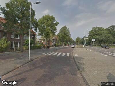 Ambulance naar Lammenschansweg in Leiden
