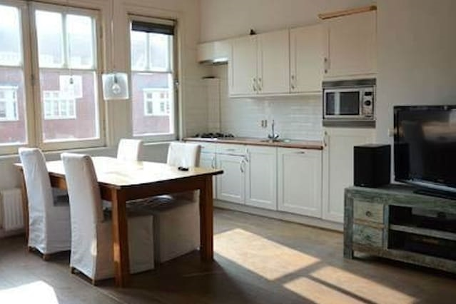 Bright Roomy Apartment with Roof, Quick into Town