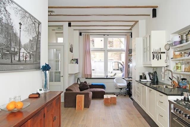Top apartement in centrum met tuin!