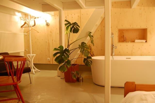 B&B private en-suite basement studio in best area