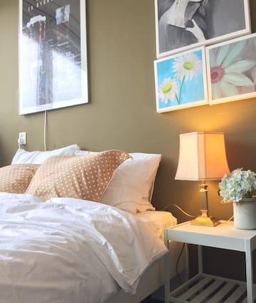 Cozy double bedroom big apartment free parking