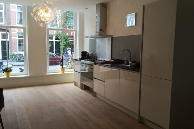 Spacious Vondelpark flat with lovely  garden.
