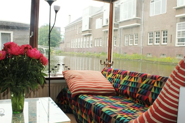 Colourful houseboat
