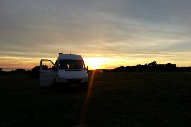 Hand built VAN with woodstove and room for 5